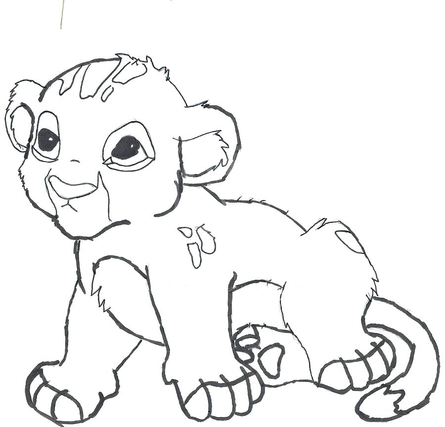 900x864 Baby Lion Coloring Pages