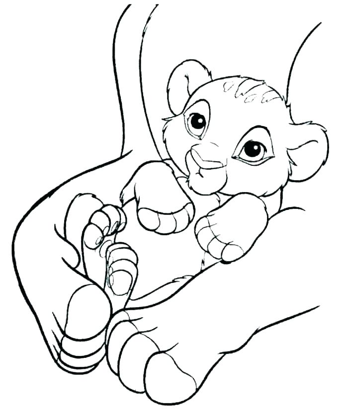 700x828 Baby Lion Coloring Pages