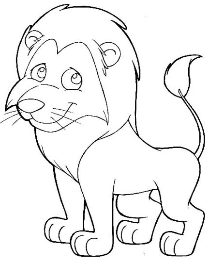 432x542 Cartoon Lion Coloring Pages