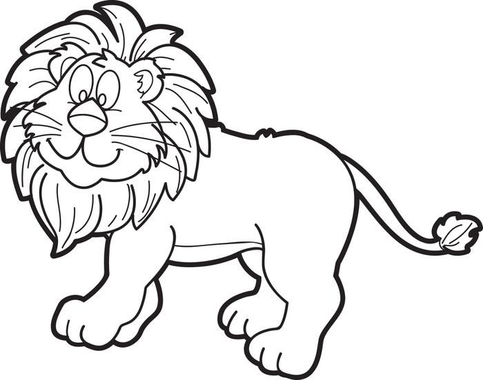 700x551 Cartoon Male Lion Coloring Page Lions And Lion Clipart