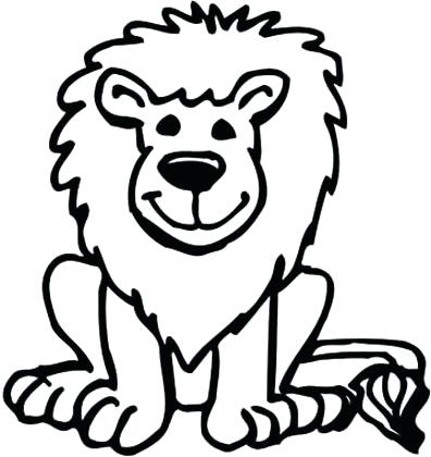 396x420 Coloring Pages Draw A Lion For Kids Terrific Coloring Pages