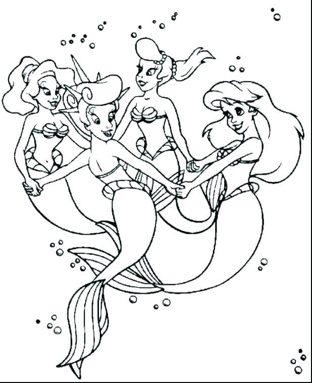 Cartoon Mermaid Coloring Pages