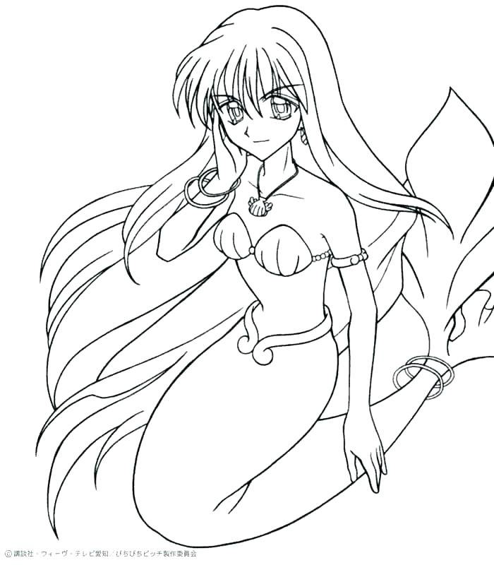 700x800 Marvellous Mermaid Melody Coloring Pages
