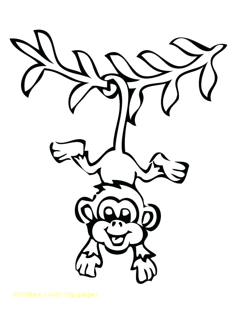 750x1000 Cartoon Monkey Coloring Pages Monkey Color Pages Monkey Cartoon