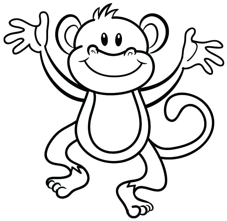 765x744 Coloring Pages Cartoon Cartoon Monkey Coloring Sheet Cartoon