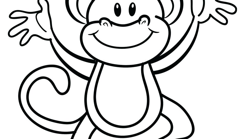 Cartoon Monkey Coloring Pages at GetDrawings.com | Free for ...