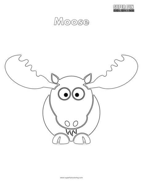 464x600 Cartoon Moose Coloring Page