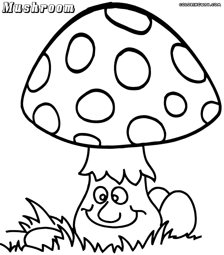 Cartoon Mushroom Coloring Pages