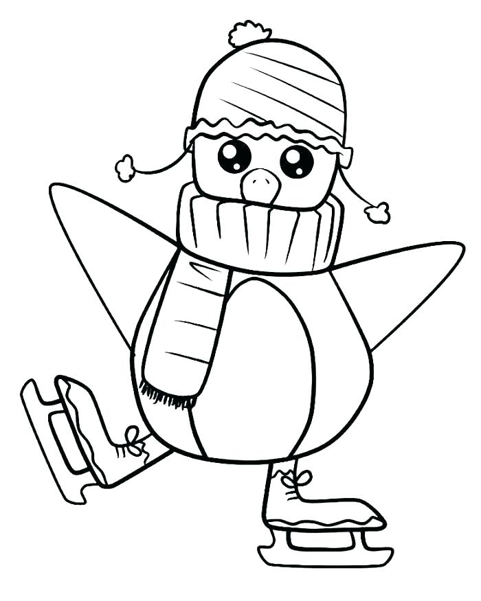 700x875 Coloring Pages Cartoon Penguin Coloring Pages Penguin Coloring