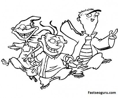 409x338 Printable Ed Edd N Eddy Coloring Pages For Kids