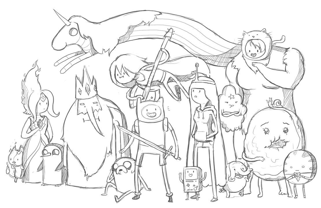 1110x720 Coloring Pages Cartoon Network