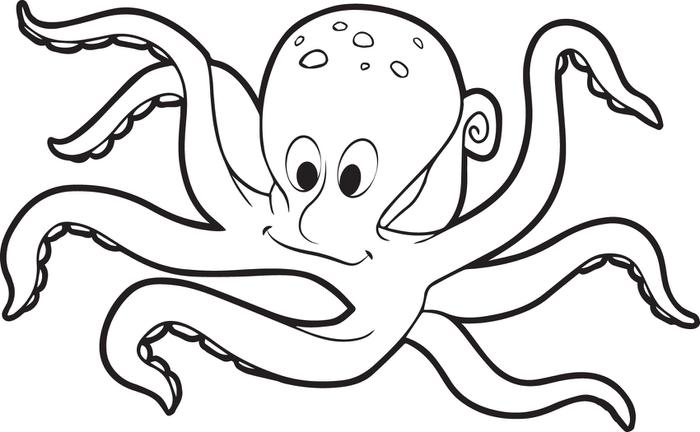 700x432 Free Printable Octopus Coloring Page For Kids Within Remodel