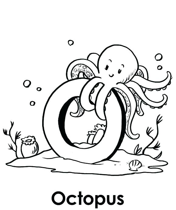 580x691 Octopus Coloring Pages Angry Octopus Coloring Page Octopus