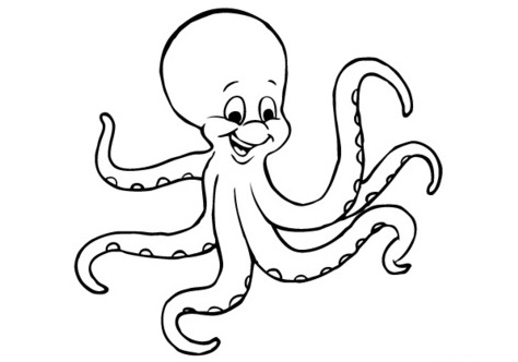 474x332 Cartoon Octopus Coloring Page Coloring Book