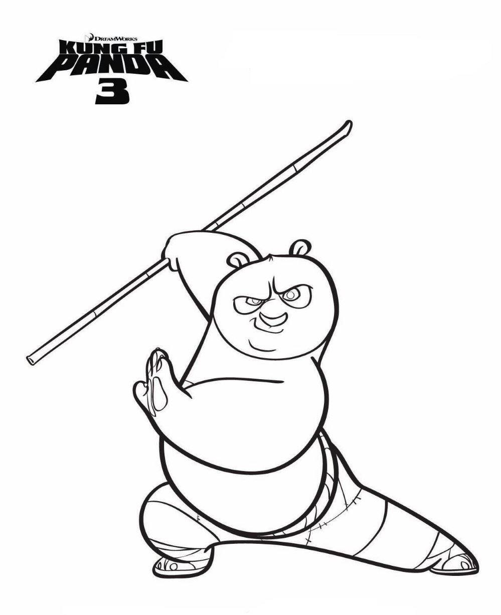 999x1226 Kung Fu Panda Coloring Pages Kids N Fun Com