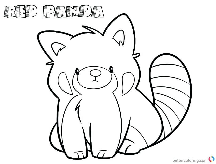 920x700 Coloring Pages Panda