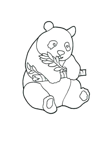 463x600 Panda Bear Coloring Pages