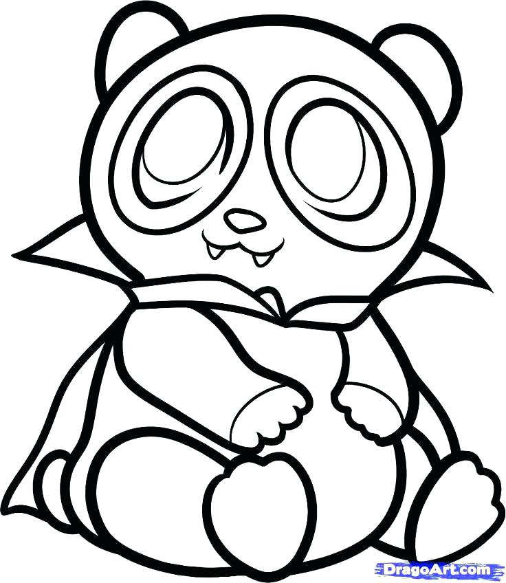 736x848 Coloring Pages Draw A Cartoon Panda Red Panda Coloring Pages Red