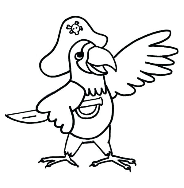 600x612 Pirate Parrot Coloring Pages Parrot Coloring Sheets Pirate Parrot