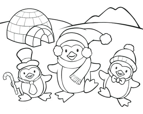 500x399 Penguin Pictures To Color Also Penguin Baby Penguin Coloring