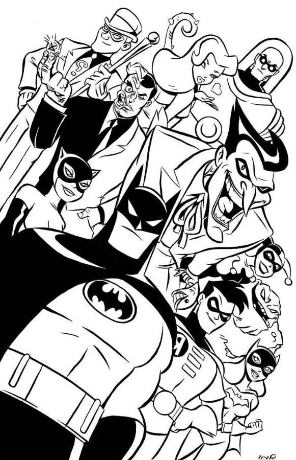 581x900 Batman Cartoon Coloring Pages With Batman Cartoon Coloring