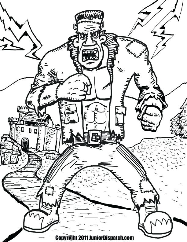 612x792 Frankenstein Coloring Page Frankenstein Coloring Page Coloring