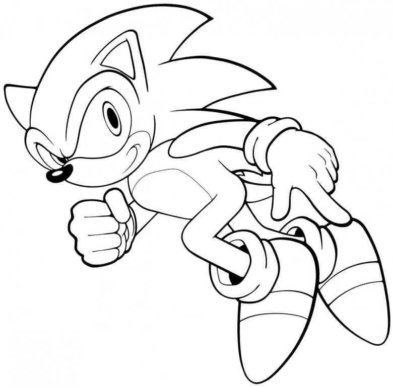 780x769 Free Printable Sonic The Hedgehog Coloring Pages For Kids