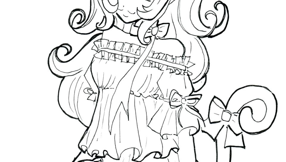 960x544 Anime Girl Coloring Pages With Hat Free Printable Cartoons Free