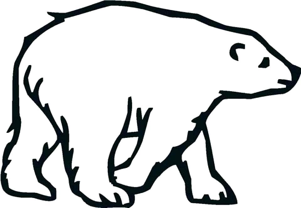 960x664 Polar Bear Coloring Page Polar Bear Coloring Pages For Polar Bear