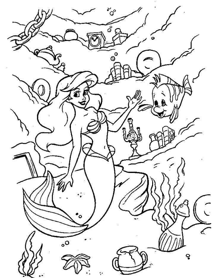 718x937 Cartoon Princess Coloring Pages