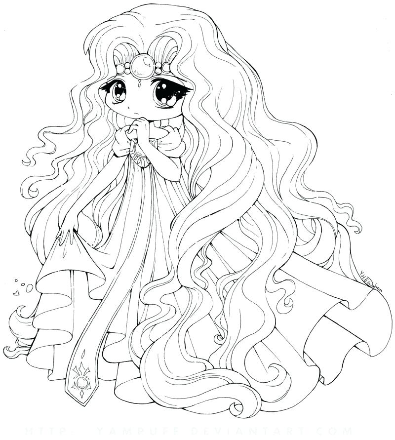 800x891 Cute Girl Coloring Pages Princess Coloring Cute Anime Girl Color