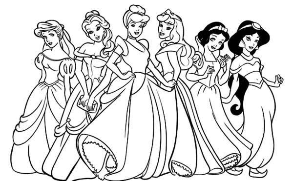 600x371 Disney Princess Coloring Pages Free
