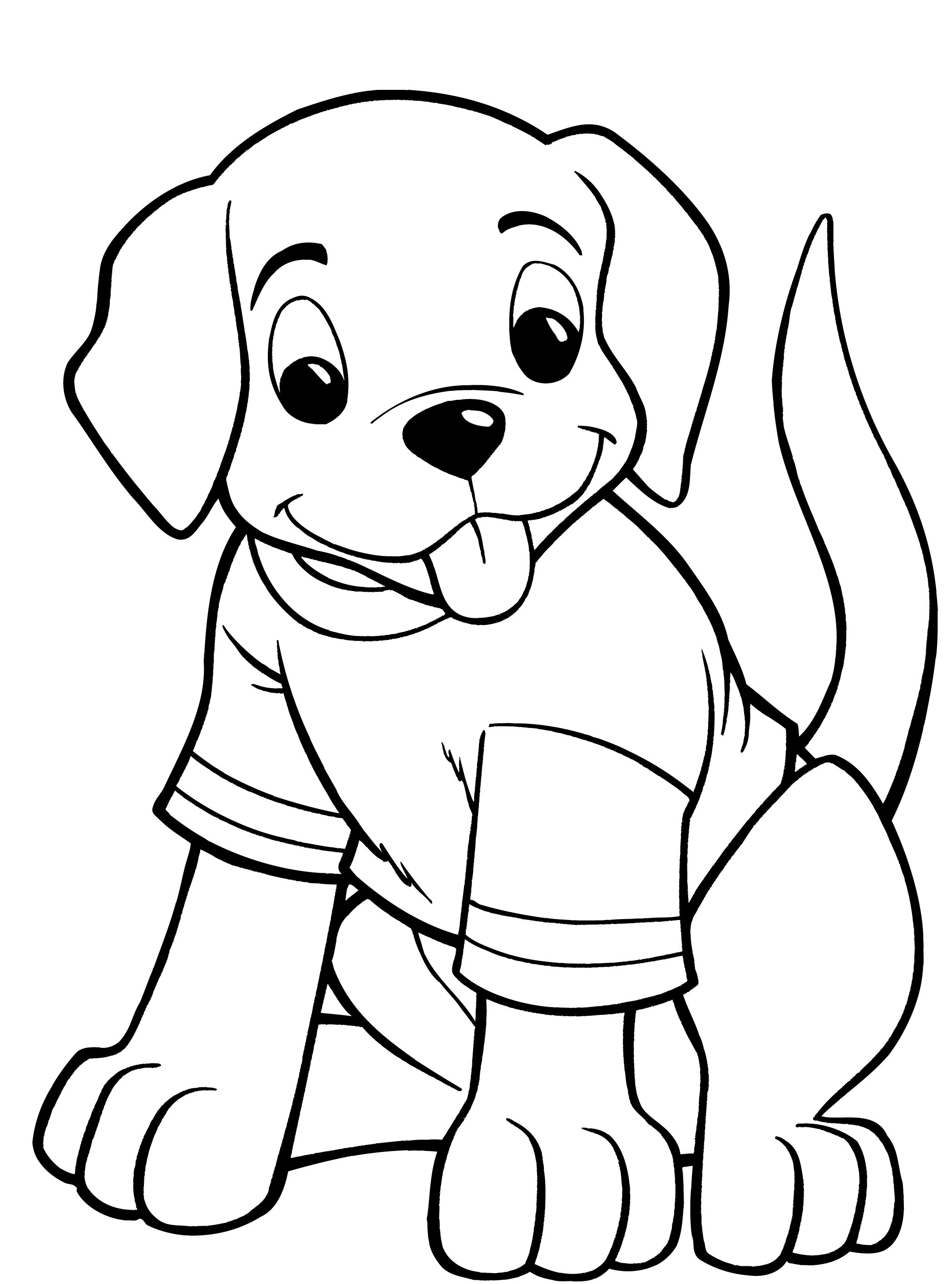 Cartoon Puppy Coloring Pages at GetDrawings | Free download