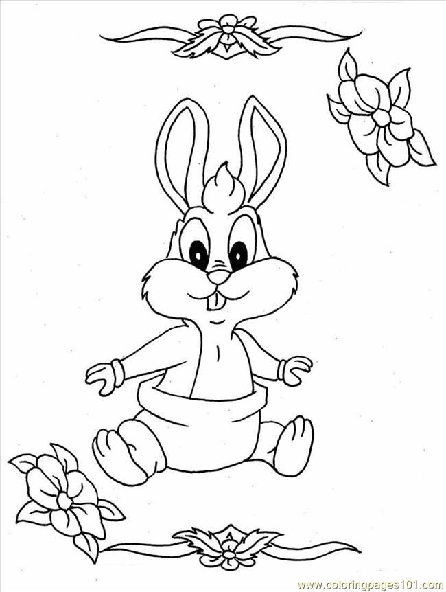650x862 Cartoon Rabbit Coloring Pages