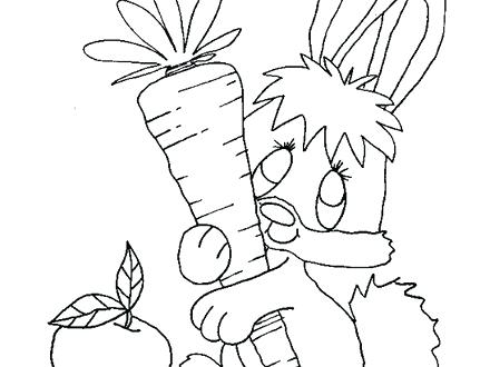 440x330 Rabbits Coloring Pages Rabbit Coloring Pages Coloring Town Free
