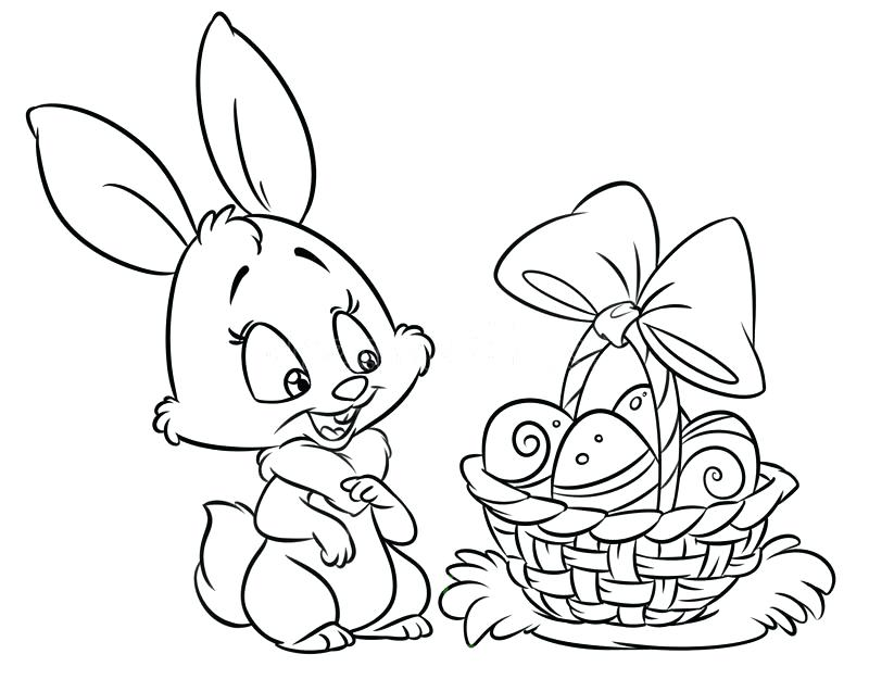 800x625 Winter Rabbit Coloring Page Happy Bunny Pages Cartoon Illustration