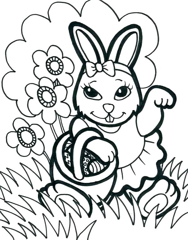 600x766 Coloring Page Rabbit