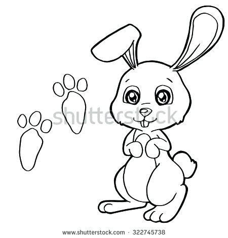 450x470 Rabbits Coloring Pages