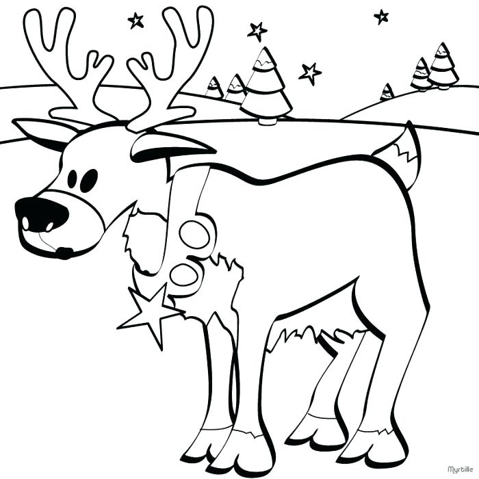 700x700 Cute Reindeer Coloring Sheets Pages Cartoon Of Flying