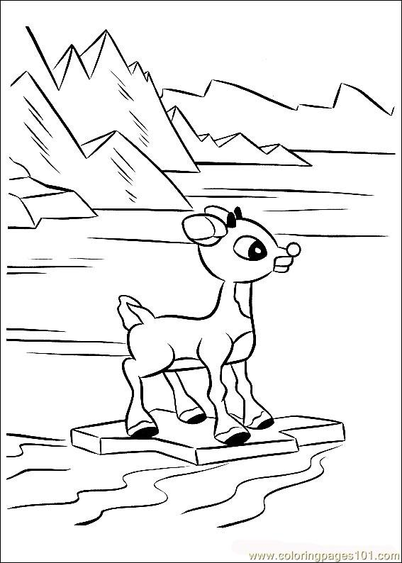 Cartoon Reindeer Coloring Pages At Getdrawings Com Free For