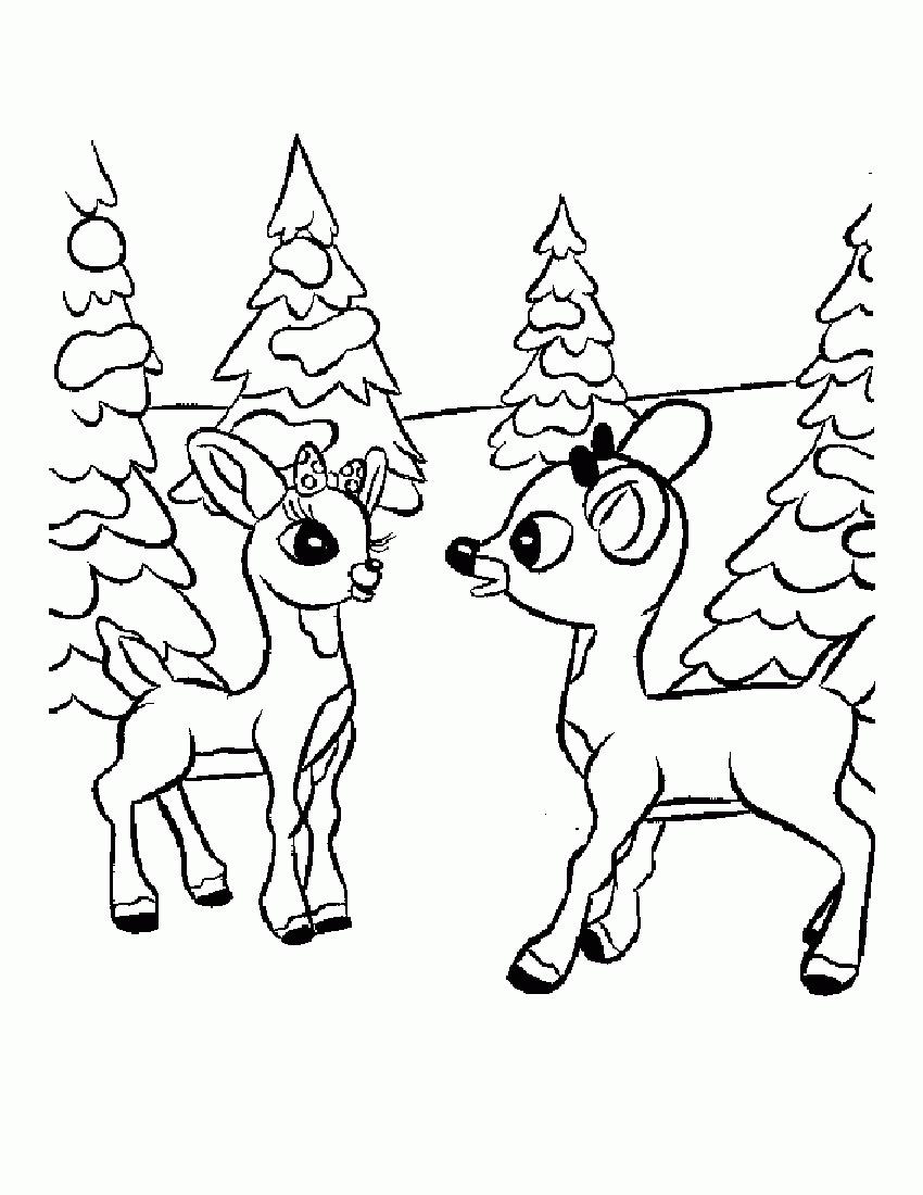 850x1100 Unique Cartoon Christmas Coloring Pages Design Printable