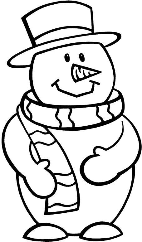 455x776 Snowman Color Page Cartoon Snowman Coloring Pages Snowman Coloring