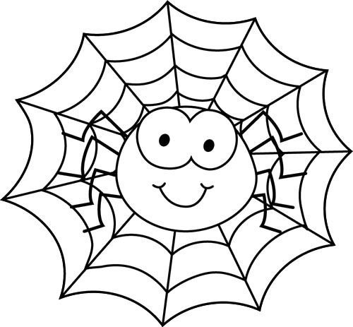 500x463 Spider Coloring Pages Spider In Spider Web Coloring Page Coloring