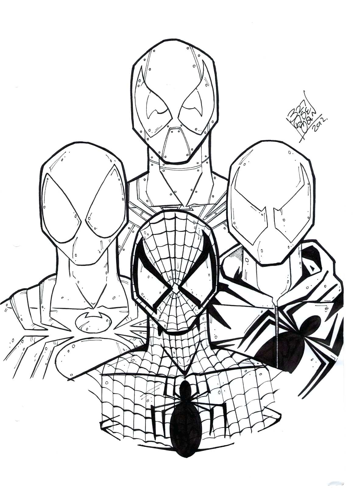 Cartoon Spiderman Coloring Pages at GetDrawings | Free ...