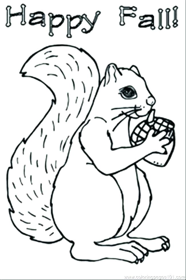 650x975 Acorn Coloring Page