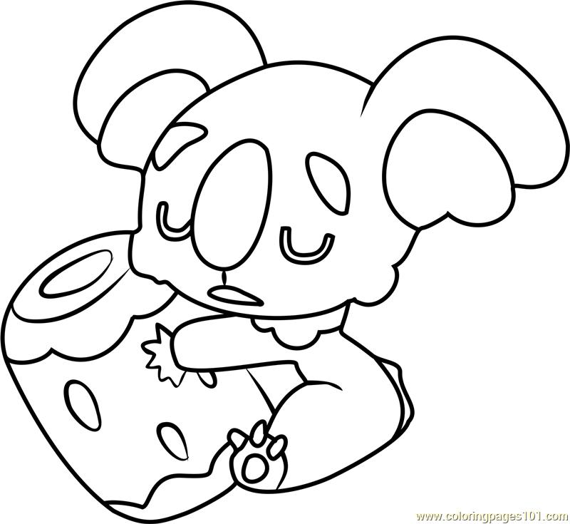 800x735 Nekkoara Pokemon Sun And Moon Coloring Page