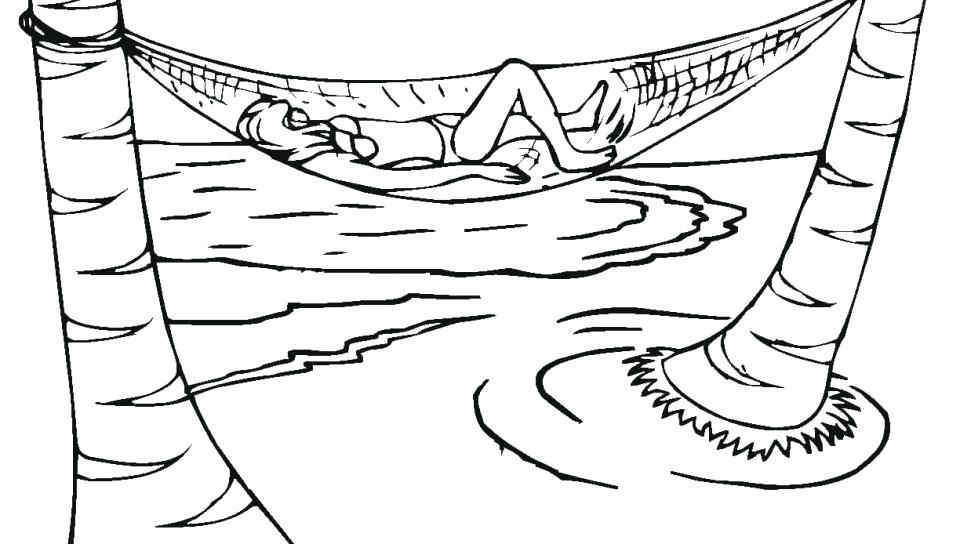 960x544 Phenomenal Sunbathing Coloring Pages For Kids Vector Of Cartoon