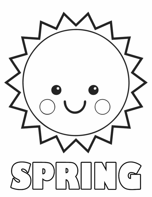 600x776 Spring Sun Coloring Pages