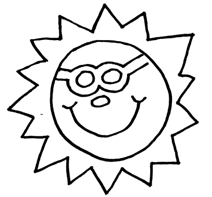 743x692 Sun Coloring Page Coloring Book