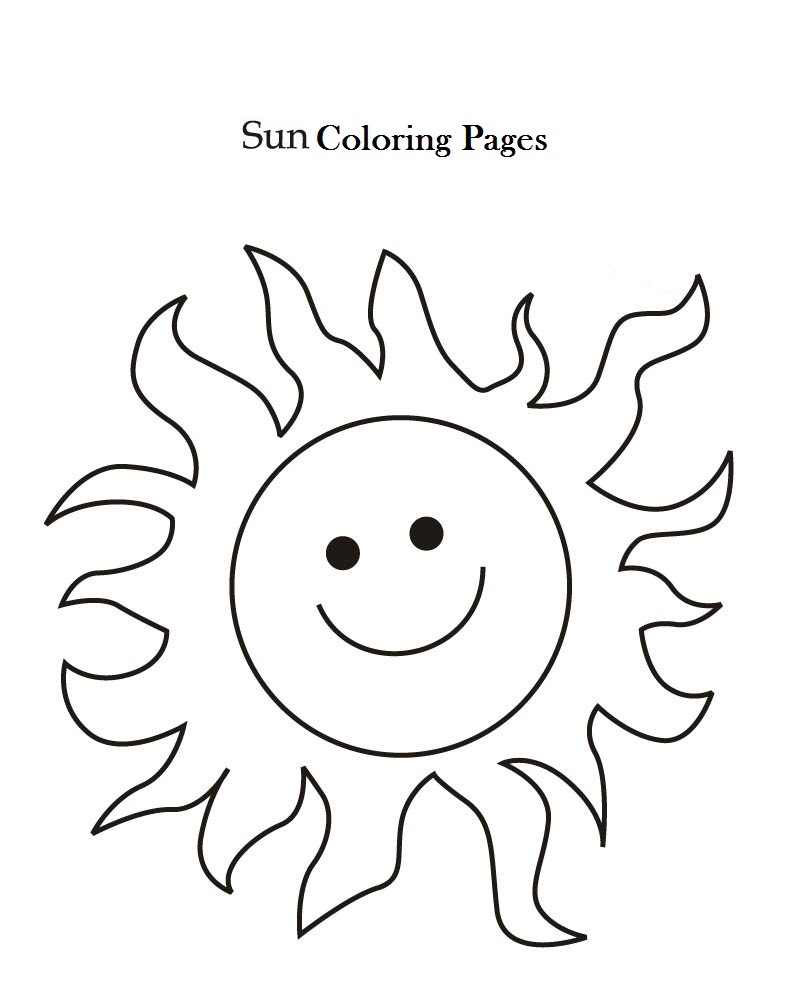 792x1008 Sun Coloring Pages